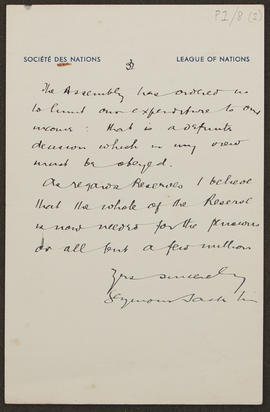 Letter from Seymour Jacklin to Seán Lester, p0003