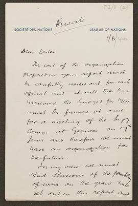 Letter from Seymour Jacklin to Seán Lester, p0001