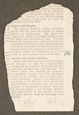Press cutting from Diary: January - June 1936, p0001