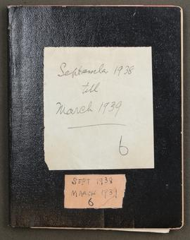 Diary: September 1938 - March 1939, p0001