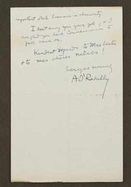 Letter from Alfred O'Rahilly to Seán Lester, p0002