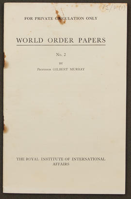 World Order Papers, No. 2 (1940), p0002